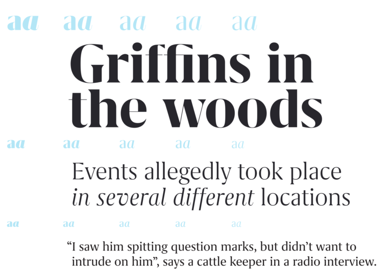 Grifo Font Typography