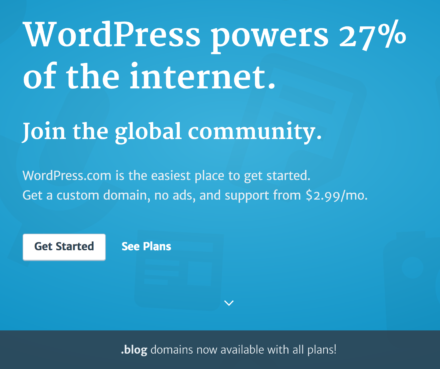 Start a blog on WordPress.com