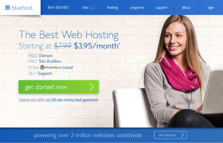 Bluehost Starting Page